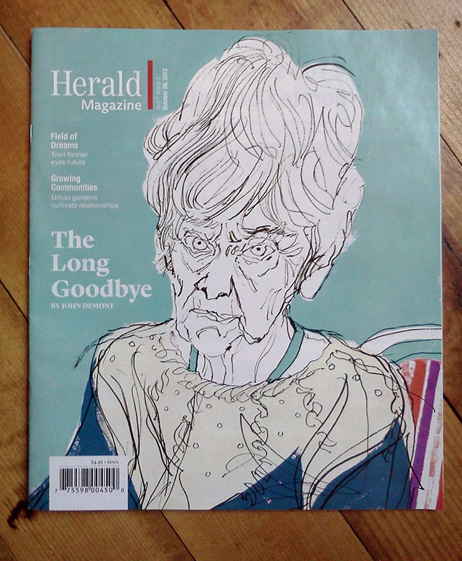 Cover of the Chronicle Herald Magazine, October edition.