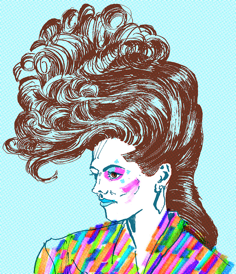 80's hair:The mighty quiff.