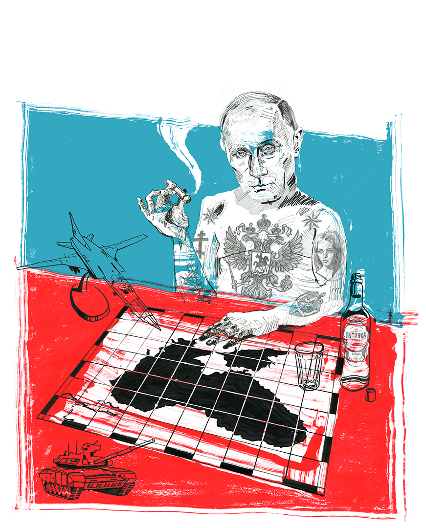 Vladimir in his bunker.