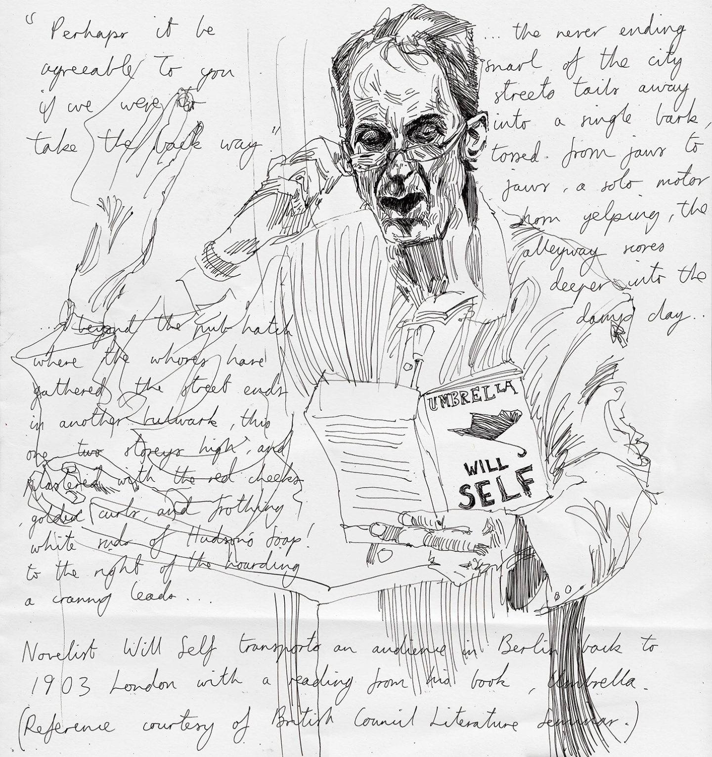 Will Self portrait.