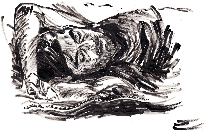 Refugee at rest.